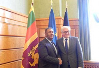 Foreign Minister Samaraweera meets Foreign Minister of Germany