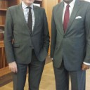 Ambassador Karunatilaka Amunugama  meets the State Secretary Stephan Steinlein of the Federal Foreign Office of Germany